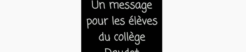 Message prof élèves 2